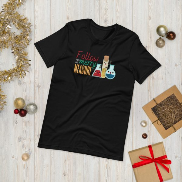 unisex staple t shirt black front 610d75e3713f0 600x600 - Follow Me in Merry Measure