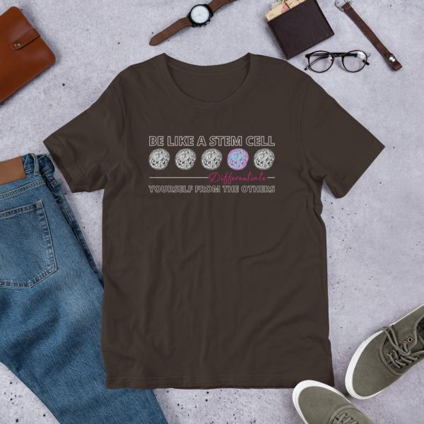unisex staple t shirt brown front 610d5ff573c80 600x600 - Be Like a Stem Cell