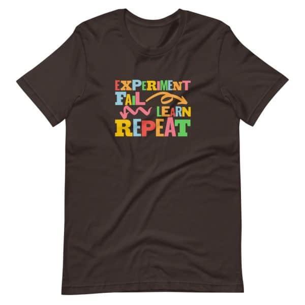 unisex staple t shirt brown front 610d6dfc63623 600x600 - Experiment. Fail. Learn. Repeat,