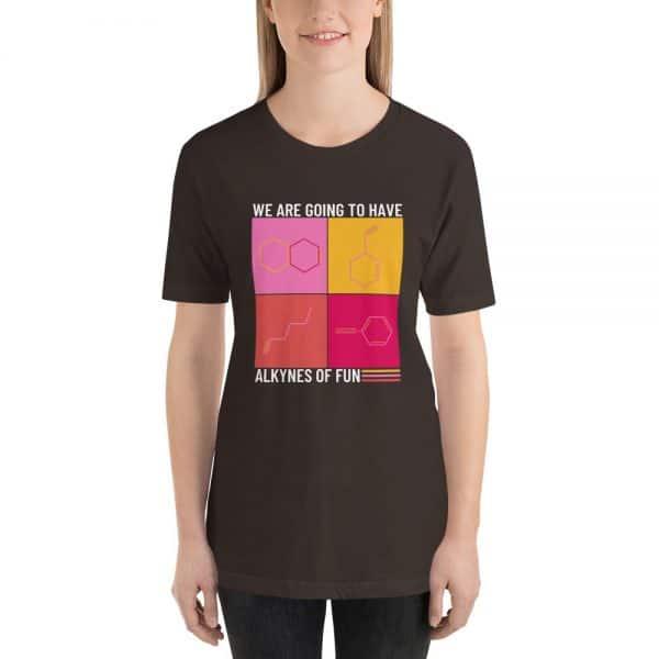 unisex staple t shirt brown front 610d790ca1da3 600x600 - Alkynes of Fun