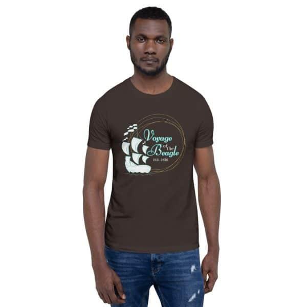 unisex staple t shirt brown front 610d88427d84c 600x600 - Voyage of the Beagle