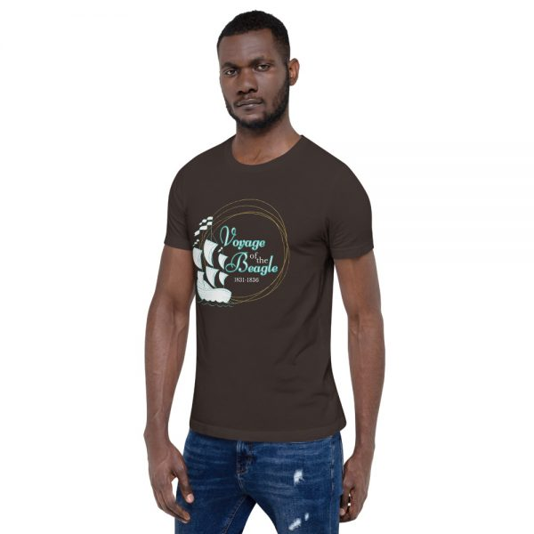 unisex staple t shirt brown left front 610d88427dfab 600x600 - Voyage of the Beagle