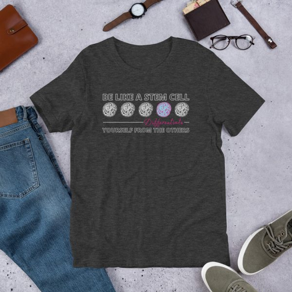 unisex staple t shirt dark grey heather front 610d5ff575ea1 600x600 - Be Like a Stem Cell