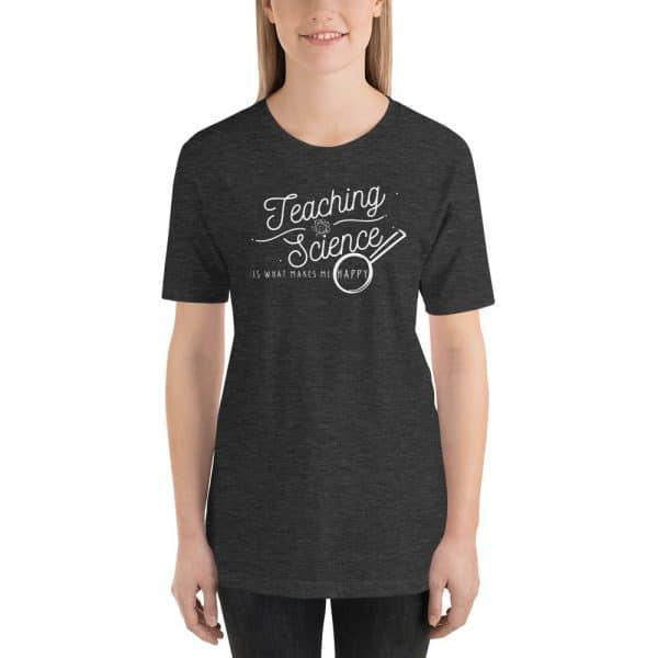 unisex staple t shirt dark grey heather front 610d64b8d32b0 600x600 - Teaching Science Makes Me Happy