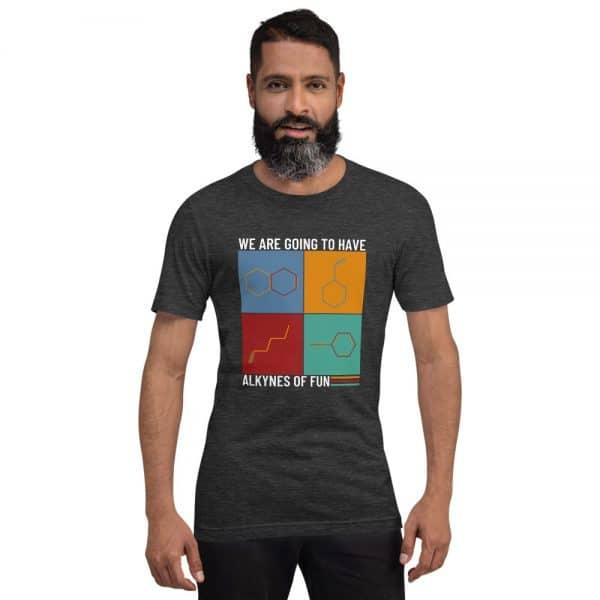unisex staple t shirt dark grey heather front 610d78c42a984 600x600 - Alkynes of Fun