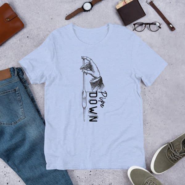 unisex staple t shirt heather blue front 610d6d90d7481 600x600 - Pipe Down
