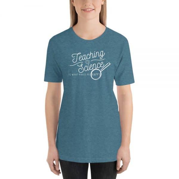 unisex staple t shirt heather deep teal front 610d64b8d84e3 600x600 - Teaching Science Makes Me Happy
