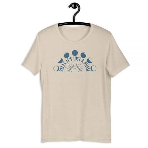 unisex staple t shirt heather dust front 610d6889552aa 600x600 - Relax It's Just a Phase Sunburst