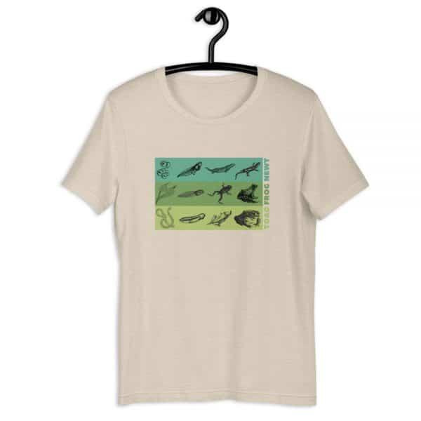 unisex staple t shirt heather dust front 610d6e648f568 600x600 - Amphibian Life Cycle