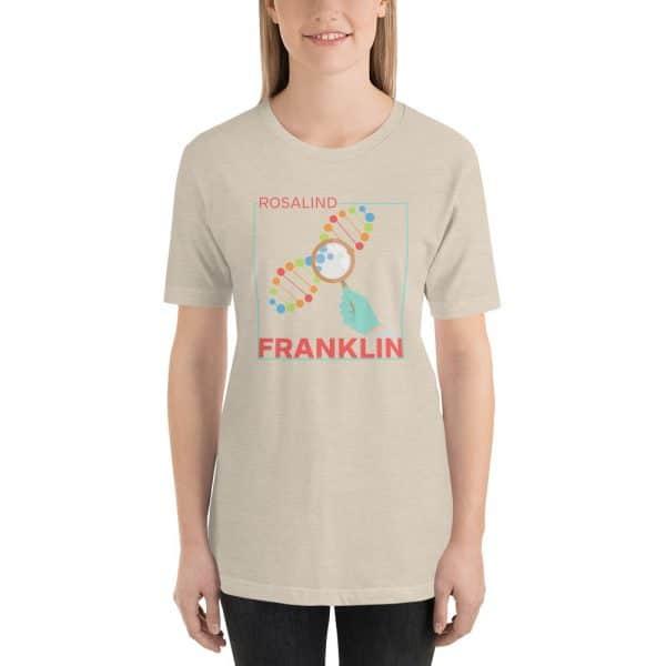 unisex staple t shirt heather dust front 610d839142245 600x600 - Rosalind Franklin