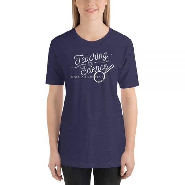 unisex staple t shirt heather midnight navy front 610d64b8d2371 600x600 - Teaching Science Makes Me Happy