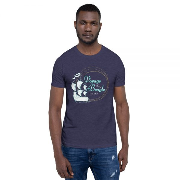 unisex staple t shirt heather midnight navy front 610d88427a7d7 600x600 - Voyage of the Beagle