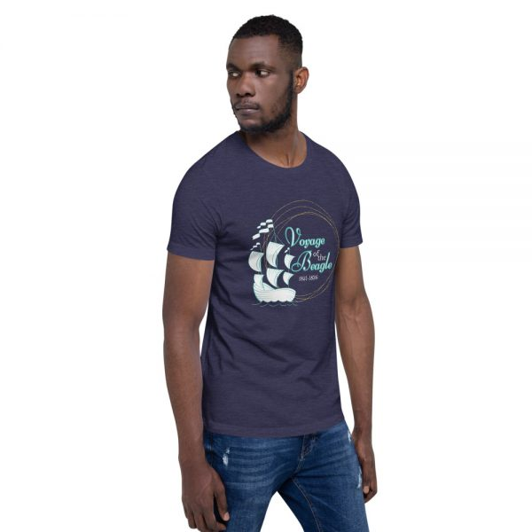 unisex staple t shirt heather midnight navy right front 610d88427f9e0 600x600 - Voyage of the Beagle