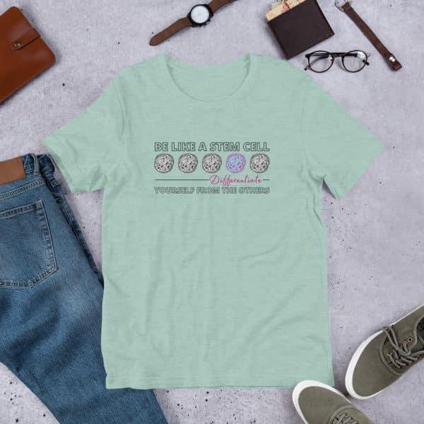 unisex staple t shirt heather prism dusty blue front 610d62de57a10 600x600 - Be Like a Stem Cell