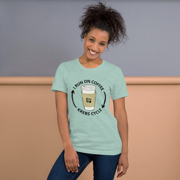 unisex staple t shirt heather prism dusty blue front 610d66d64d0e7 600x600 - I Run on the Krebs Cycle