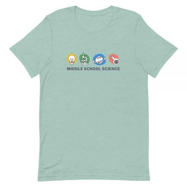 unisex staple t shirt heather prism dusty blue front 610d77a449dc6 600x600 - Middle School Science Club Shirt