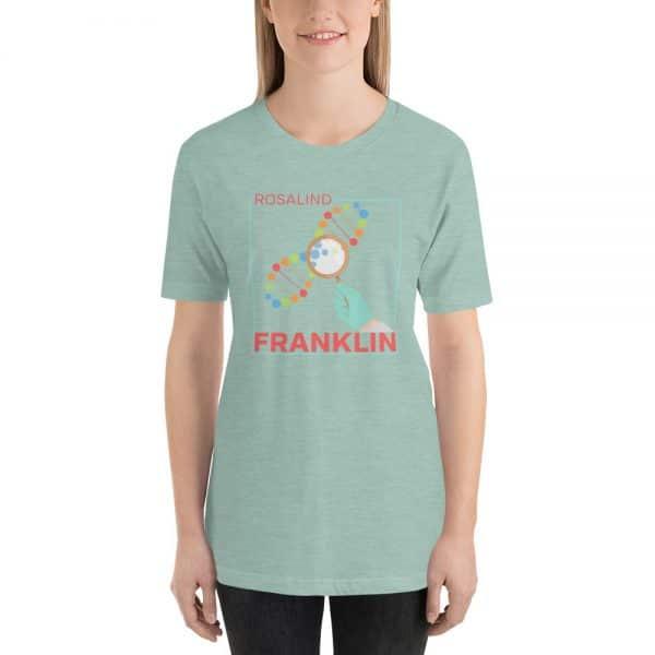 unisex staple t shirt heather prism dusty blue front 610d83913b202 600x600 - Rosalind Franklin