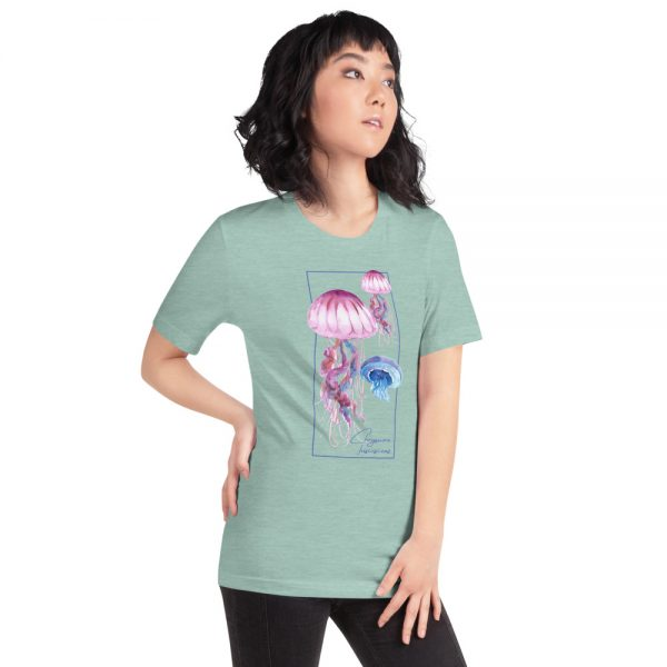 unisex staple t shirt heather prism dusty blue right front 610d7a6caab13 600x600 - Jellyfish