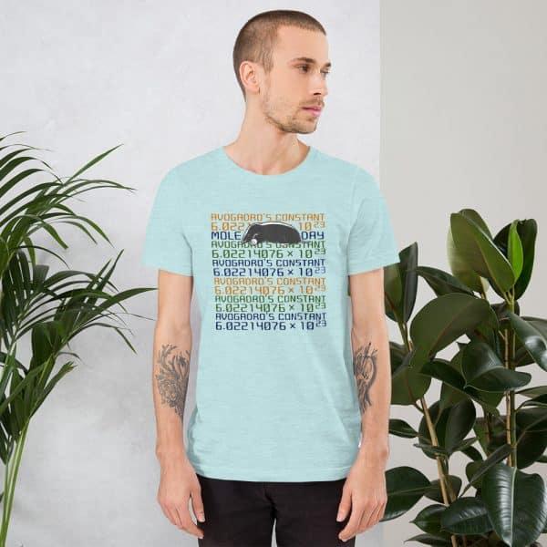 unisex staple t shirt heather prism ice blue front 610d6c7456c24 600x600 - Mole Day