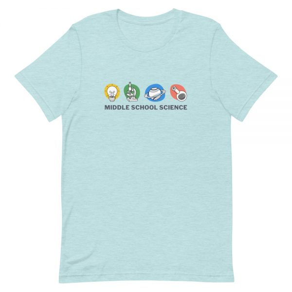 unisex staple t shirt heather prism ice blue front 610d77a4518d7 600x600 - Middle School Science Club Shirt