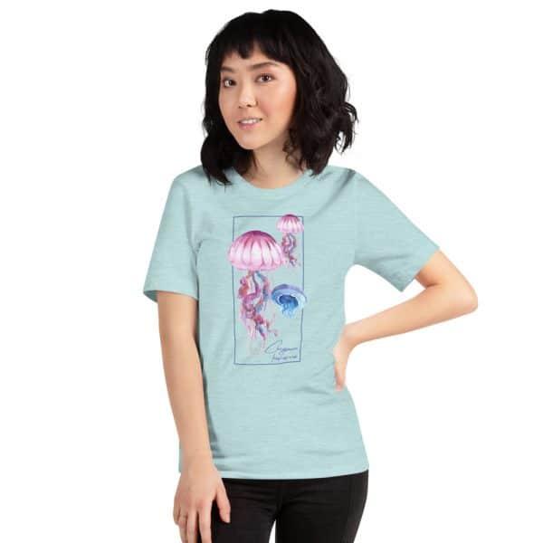 unisex staple t shirt heather prism ice blue front 610d7a6cc95de 600x600 - Jellyfish