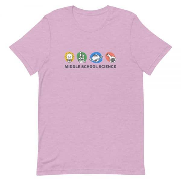 unisex staple t shirt heather prism lilac front 610d77a449ac0 600x600 - Middle School Science Club Shirt