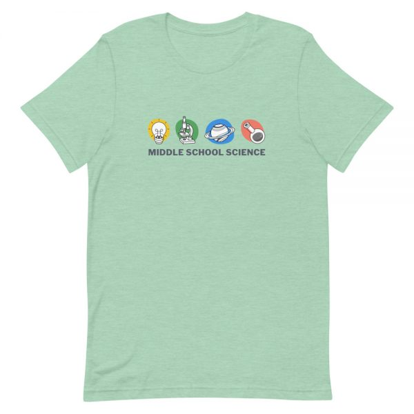 unisex staple t shirt heather prism mint front 610d77a44a4b9 600x600 - Middle School Science Club Shirt