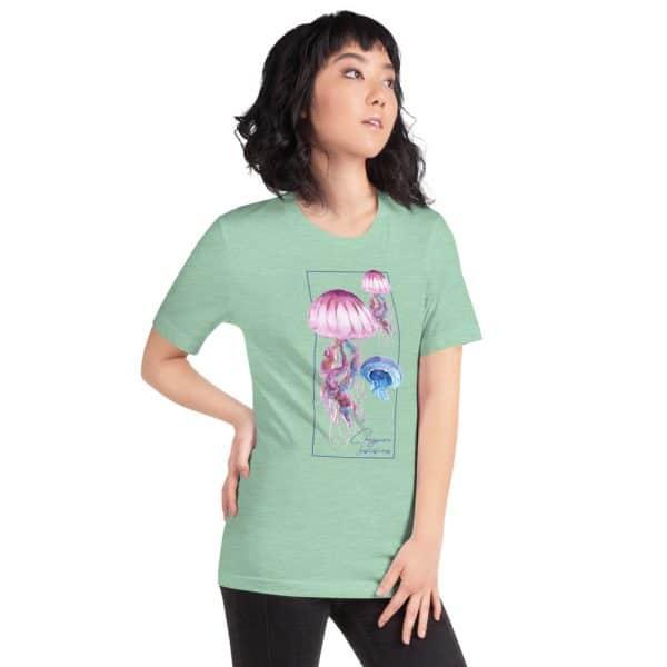 unisex staple t shirt heather prism mint right front 610d7a6cb29ba 600x600 - Jellyfish