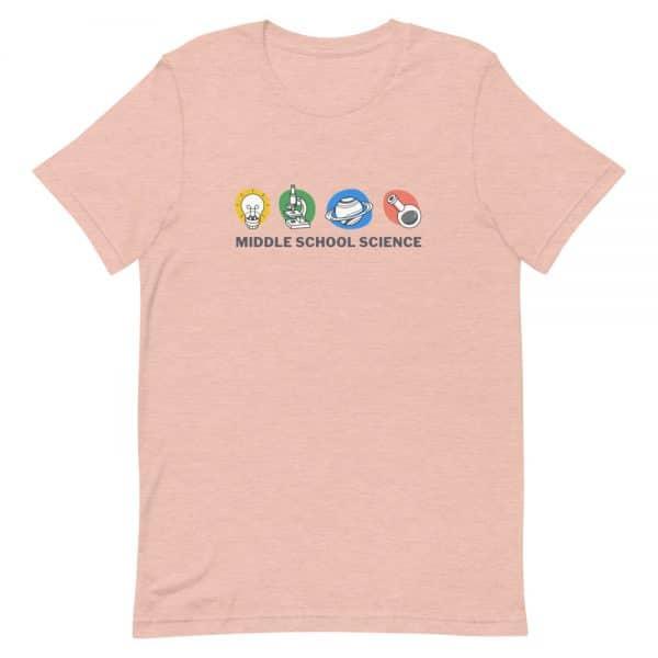unisex staple t shirt heather prism peach front 610d77a44b8ef 600x600 - Middle School Science Club Shirt