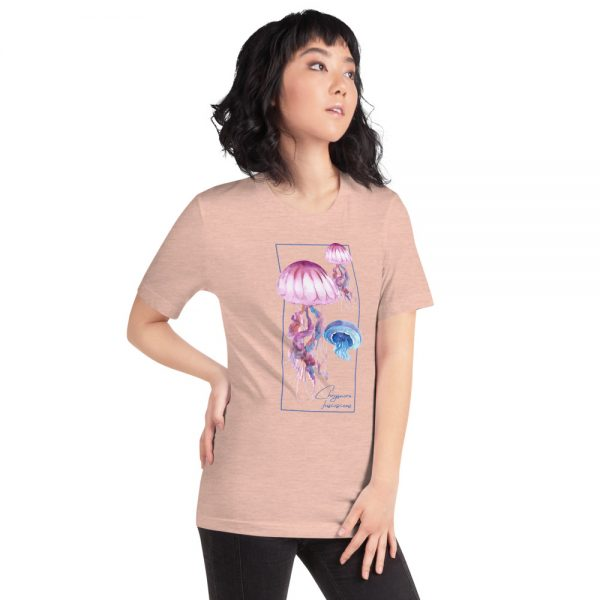 unisex staple t shirt heather prism peach right front 610d7a6cbae64 600x600 - Jellyfish