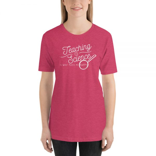unisex staple t shirt heather raspberry front 610d64b8d7925 600x600 - Teaching Science Makes Me Happy