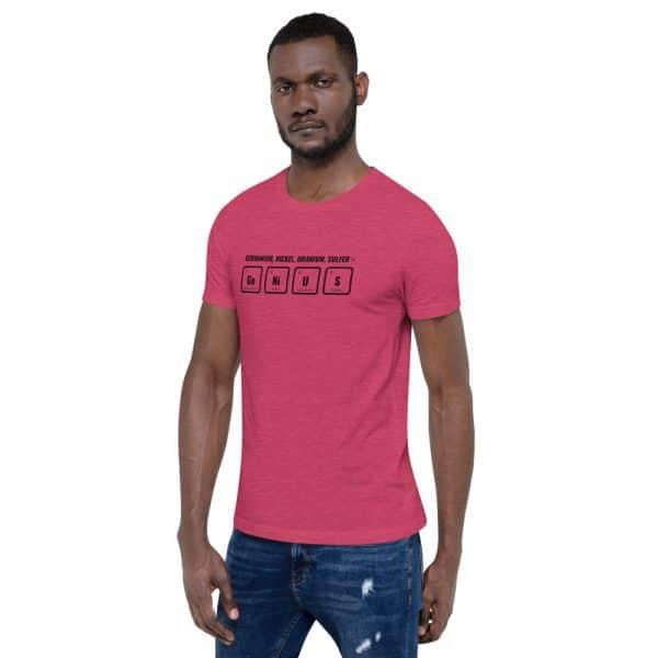 unisex staple t shirt heather raspberry left front 610d5ef529bd7 600x600 - GeNiUS