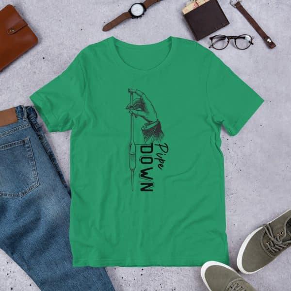 unisex staple t shirt kelly front 610d6d90c4646 600x600 - Pipe Down