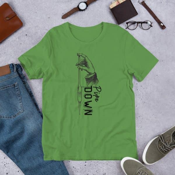 unisex staple t shirt leaf front 610d6d90c95e7 600x600 - Pipe Down