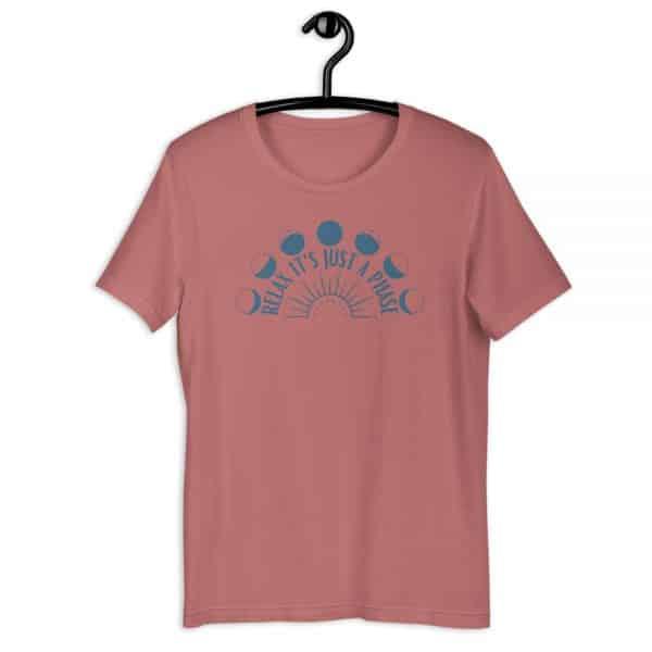 unisex staple t shirt mauve front 610d6889364ee 600x600 - Relax It's Just a Phase Sunburst