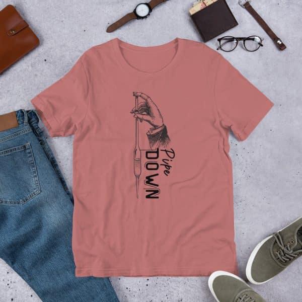 unisex staple t shirt mauve front 610d6d90c8dcd 600x600 - Pipe Down