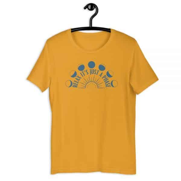 unisex staple t shirt mustard front 610d688938f4b 600x600 - Relax It's Just a Phase Sunburst
