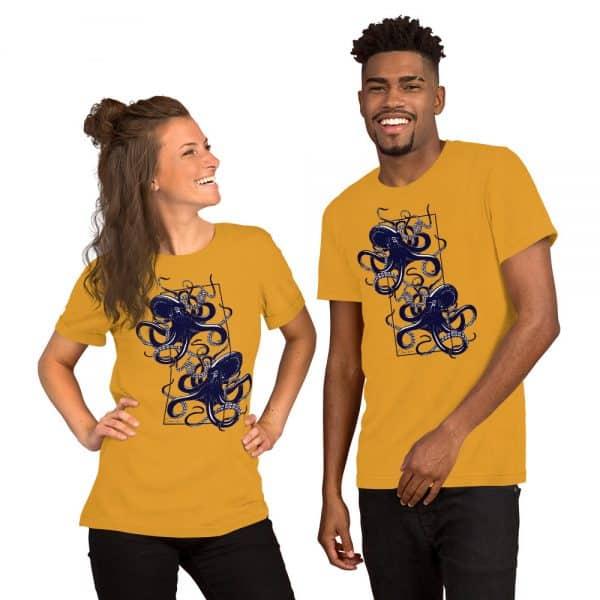 unisex staple t shirt mustard front 610d7d9f1600b 600x600 - Octopus vulgaris