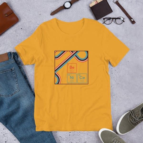 unisex staple t shirt mustard front 610d9442e84cd 600x600 - Be NiCe