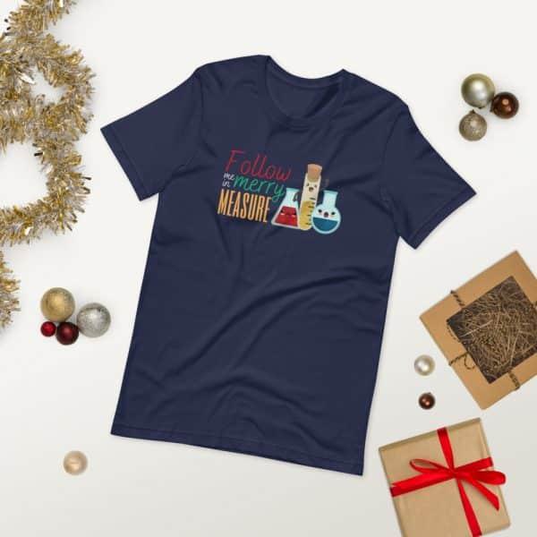 unisex staple t shirt navy front 2 610d75e3731de 600x600 - Follow Me in Merry Measure