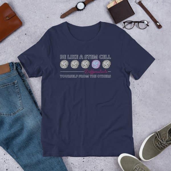 unisex staple t shirt navy front 610d5ff5732d1 600x600 - Be Like a Stem Cell