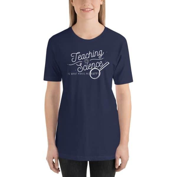 unisex staple t shirt navy front 610d64b8d1c1c 600x600 - Teaching Science Makes Me Happy