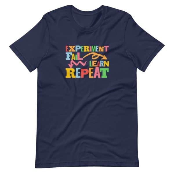 unisex staple t shirt navy front 610d6dfc62f44 600x600 - Experiment. Fail. Learn. Repeat,