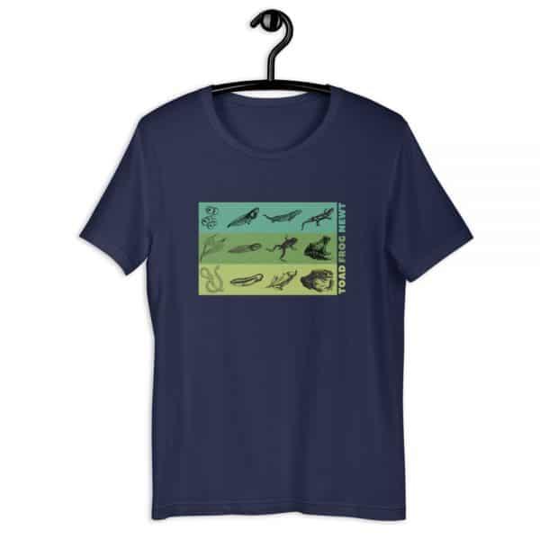 unisex staple t shirt navy front 610d6e648521d 600x600 - Amphibian Life Cycle