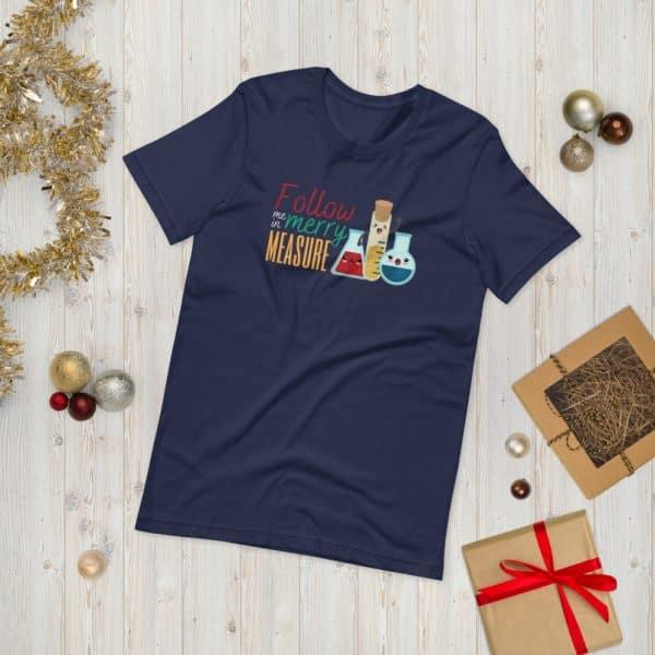 unisex staple t shirt navy front 610d75e372778 600x600 - Follow Me in Merry Measure