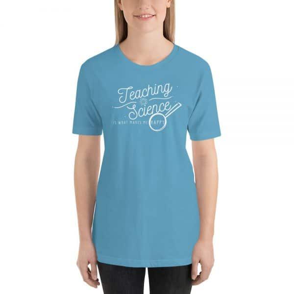unisex staple t shirt ocean blue front 610d64b8df505 600x600 - Teaching Science Makes Me Happy