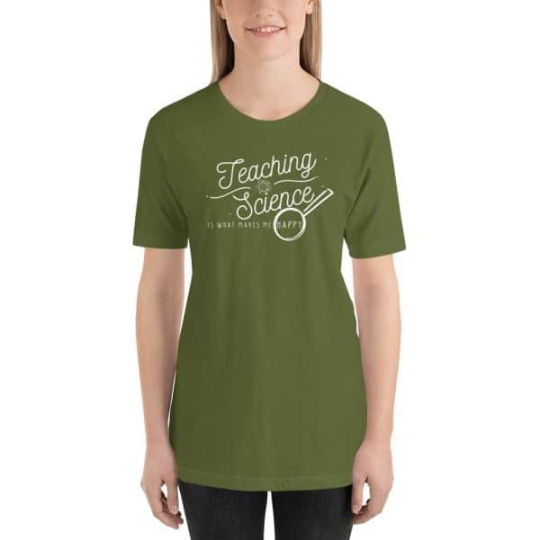 unisex staple t shirt olive front 610d64b8d6ca2 600x600 - Teaching Science Makes Me Happy