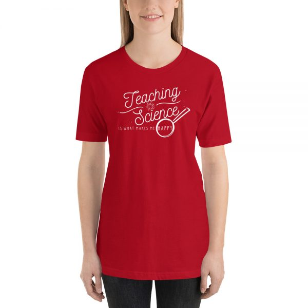 unisex staple t shirt red front 610d64b8d1f25 600x600 - Teaching Science Makes Me Happy