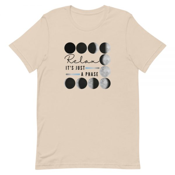 unisex staple t shirt soft cream front 610d690dcc8b3 600x600 - Relax It's Just a Phase
