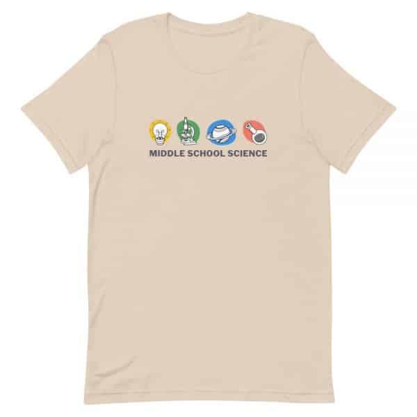 unisex staple t shirt soft cream front 610d77a44eb5e 600x600 - Middle School Science Club Shirt